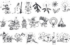 Xmas Silouettes Royalty Free Stock Image