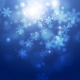 Xmas-snönedgång Arkivfoton
