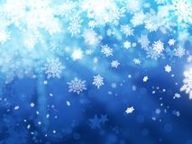 Xmas snoflakes abstract winter background. Illustration Stock Images