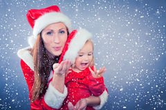 Xmas snow Stock Image