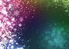 Xmas snowflake beautiful colorful abstract background Stock Image