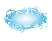 Xmas Snowflake Logo or Label Royalty Free Stock Image