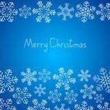 Xmas snowflakes background Stock Photo