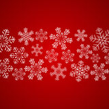 Xmas snowflakes background Stock Photos