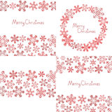 Xmas snowflakes background Royalty Free Stock Images