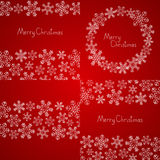 Xmas snowflakes backgrounds Royalty Free Stock Photography