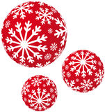 Xmas snowflakes balls Stock Photography