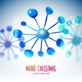 Xmas snowflakes with blurred effect Stock Photo