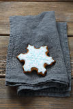 Xmas snowflakes cookies Royalty Free Stock Images