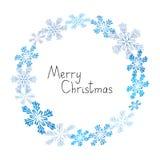 Xmas snowflakes  frame Royalty Free Stock Image