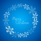 Xmas snowflakes frame Stock Photo