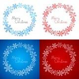 Xmas snowflakes frames Royalty Free Stock Photo