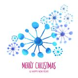 Xmas snowflakes with motion effect at white Stock Image