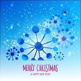 Xmas snowflakes with motion effect Stock Image
