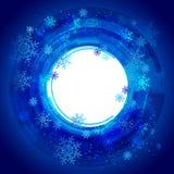 Xmas snowflakes. Sample text Royalty Free Stock Photography