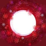 Xmas snowflakes. Sample text Stock Photos