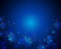 Xmas snowflakes. Sample text Stock Photo