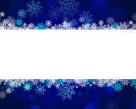 Xmas snowflakes. Sample text Stock Photography