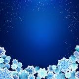 Xmas snowflakes. Sample text Royalty Free Stock Image