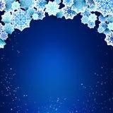 Xmas snowflakes. Sample text Stock Image