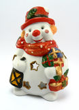 Xmas snowman. Xmas snow man (for candle Stock Photography