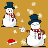 Xmas snowman cartoon expression set3 Stock Photography