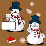 Xmas snowman cartoon expression set4 Stock Image