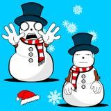 Xmas snowman cartoon expression set8 Stock Image