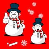 Xmas snowman cartoon expression set0 Royalty Free Stock Photos