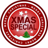 Xmas special. An illustrated badge that declares a xmas special. All on white background Stock Image