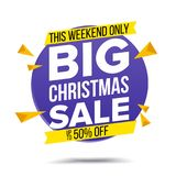 Xmas Sale Banner Vector. Super Sale Flyer. Isolated Illustration Royalty Free Stock Image