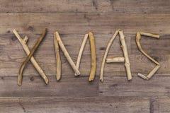Xmas spelt with driftwood Stock Image