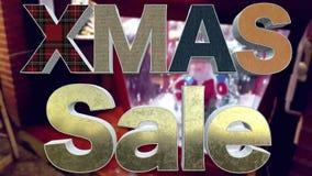 XMAS sprzedaży 3D tekst ilustracja wektor