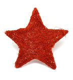 Xmas star. Red xmas star (natural) wit white bacground Stock Photography