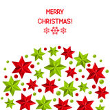 Xmas starry decorations on white background Royalty Free Stock Image