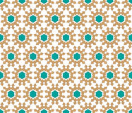 Xmas stars pattern. Christmas background or star pattern on cloth or paper brown green colors Royalty Free Stock Image