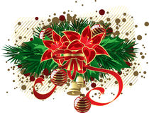 Xmas sticker Royalty Free Stock Images