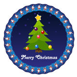 Xmas sticker. Xmas eve sticker with star background Royalty Free Stock Photography