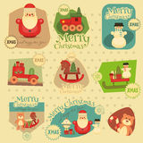 Xmas Stickers Set stock illustration