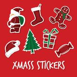 Xmas stickers Royalty Free Stock Photography