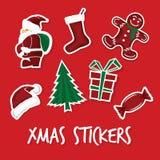 Xmas stickers Stock Image