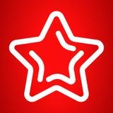 Xmas-stjärnasymbol, översiktsstil royaltyfri illustrationer
