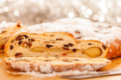 Xmas Stollen Royalty Free Stock Photography