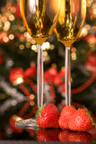 Xmas strawberries Royalty Free Stock Photography