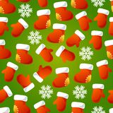 Xmas striped seamless pattern. Royalty Free Stock Images