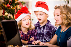 Xmas surfing Stock Photography
