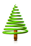 Xmas Swirl. An iconic 3D render of a very funny and inovative christmas tree placed on a white background Royalty Free Stock Photography