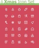 Xmas-symbolsuppsättning Arkivfoto