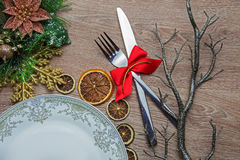 Xmas table decoration Stock Images