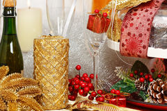 Xmas table Stock Image